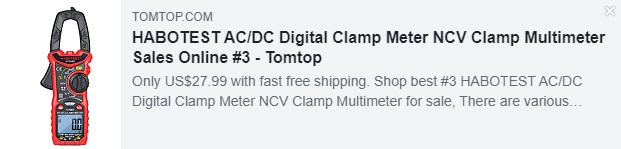 HABOTEST AC / DC数字钳形表NCV钳形万用表Price:$ 27.99