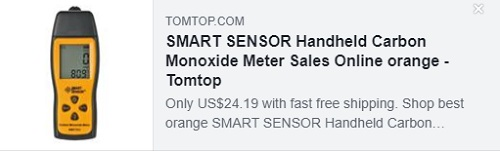 SMART SENSOR手持式一氧化碳计Price:$ 24.19
