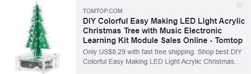 DIY красочная легкая светодиодная акриловая рождественская елка с музыкальным электронным обучающим модулем Price: $ 8,29