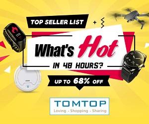 Tomtop yüksek kaliteli ürünleri en iyi fiyatlarla sunar